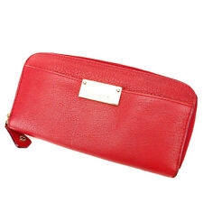 Jimmy Choo Wallet Purse Long Wallet Red Woman Authentic Used O152