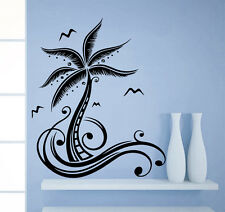 Wall Decal Palm Tree Seagulls Bird Decals Living Room Decor Sticker Murals AM85