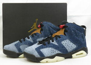 Nike Air Jordan 6 Retro GS Athletic Shoes Washed Denim CV5489-401 7Y Youth NEW