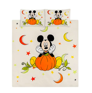 Disney Mickey Mouse Halloween Pumpkin Single or Double or King Duvet Cover Sets