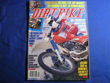 DIRT BIKE MAGAZINE-AUG 1987-KTM125MX-XR600R-YAM BANSHEE VS SUZ QUADZILLA-SUPX