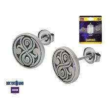 Doctor Who Seal of Rassilon Casted Stud Earrings