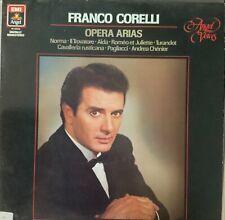 FRANCO CORELLI-OPERA ARIAS-ORIGINAL 1981 EMI ANGEL RECORDS VINYL-RARE