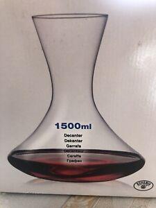 Finest Bohemia Crystal Decanter 1.5L Czech Republic