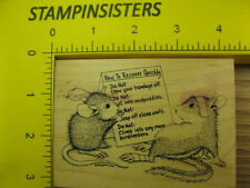 Rubber Stamp House Mouse Quick Fix Stampa Rosa Stampinsisters #1694