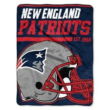 "New NFL New England Patriots Soft Micro Rasche Large Throw Blanket 46"" X 60"""