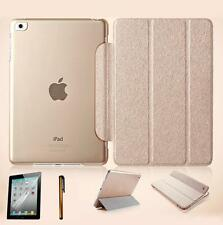 Ultra Slim Magnetic Leather Smart Cover Hard Back Case for iPad Air 2/ 2 3 4+Pen