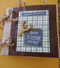 Handmade Boys Mini Paper Bag Scrapbook Album