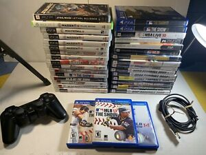 Vintage Video Game Lot Of 32 Games W/PS3 Controller PS4 PS2 PSVita PSP Included
