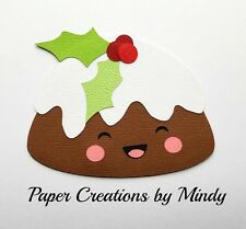 Craftecafe Mindy Kawaii Plum Pudding Xmas premade paper piece scrapbook page