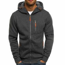 Men's Winter Hoodies Sweatshirt Outwear Sweater Coat Jacket gray Size XL