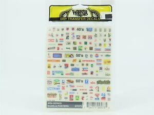HO Scale Woodland Scenics Dry Transfer Decals DT573 Mini-Series Signs & Posters