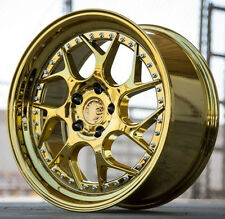 """18"""" Aodhan DS01 18x8.5 5x100 +35 Gold Wheels For Dodge Neon SRT4 (Rims Set of 4)"""