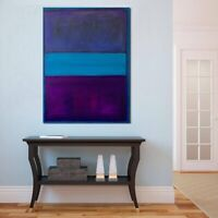 MARK ROTHKO Painting Giclee Print Abstract Art on Canvas LARGE 28X36 Blue Purple