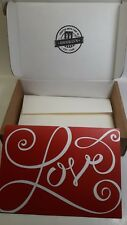 "Valentine's Day Card. ""Love"" With Envelope & Box.Free Shipping"