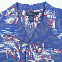 Vtg Polo Ralph Lauren Hawaiian Shirt Mens S/M? Soft Rayon Island Beach Vacation