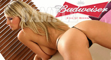 Fridge Magnet Sexy Budweiser doggy style blonde playmate sexy hot babe bar art