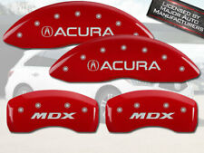 """2014-2016 """"Acura MDX"""" Front + Rear Red MGP Brake Disc Caliper Covers 4pc Set"""