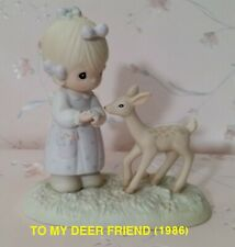 Precious Moments Figurines:To My Deer Friend (1986)