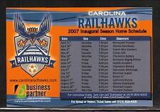 Carolina Railhawks--2007 Magnet Schedule--USL Soccer