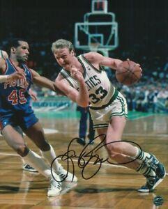 Larry Bird 8x10 Autographed Photo COA Pro Basketball Player Coach Celtics Pacers