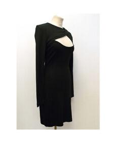 Halston heritage Fitted Dress Aus 6 Us 4 Black Cut Out Kim Mini Dress.