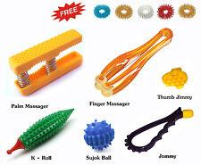 Acupressure (7in1) Health Kit - Palm Finger Massager, K-Roller, Sujok Ball Rings