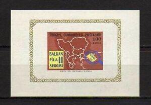 15802) Turkey 1966 MNH New S/S Balkan Fila – Stamps