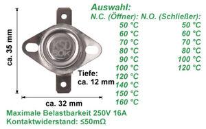 Thermoschalter Temperaturschalter Öffner Schliesser Temperaturbegrenzer 16A