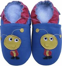 shoeszoo ant blue 3-4y S1 soft sole leather toddler shoes
