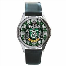 Reloj De Pulsera nuevo * Hot Harry Potter Slytherin Hogwarts Escuela Tono Plata Redondo