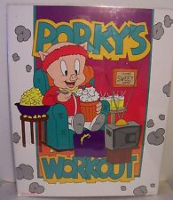 "PORKY PIG ""Porky's Workout"" 1992 Vintage Poster  22""x 28"" New in shrink wrap"