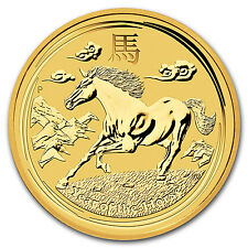 2014 1/10 oz Gold Australian Perth Mint Lunar Year of the Horse Coin -SKU #78081