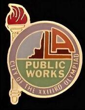 Olympic Pin Badge~Los Angeles Public Works~1984~LA~Torch~City of XXIII Olympiad