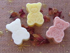 BABY SHOWER TEDDIES  /GIFT BAGS/ FAVOURS BABY POWDER HANDMADE SOAPS {20}
