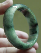 100% Natural (Untreated) A Grade Beautiful Green JADE BANGLE #B011 - USA Seller!