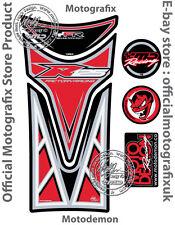 YAMAHA YZF R125 08 - 16 Rouge Noir Moto réservoir PAD motografix Gel Protecteur