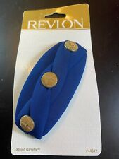 Vintage 1997 Goody Revlon Fashion Barrette - New Old Stock - 44512 Navy Gold