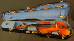 AA 1920 beau Violon entier étiqueté Bernardel Amati dans sa boite superbe !