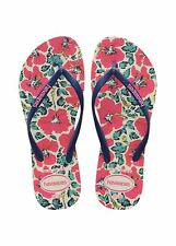 Havaianas Slim Floral White Blue Black Pink Flip Flops Sandals All Sizes