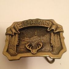 Brass Cascades Buckle by The Great American Buckle Co
