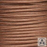 Textilkabel Stoffkabel Lampen-Kabel Stromkabel Elektrokabel Braun 3 adrig