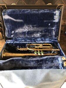 Cornet EK Blessing Super Artist Elkhart Ind With Stradivarius Case Serviced Nice