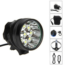 18000LM 9x CREE XM-L U2 LED Rechargeable Bicycle Bike Light Headlamp 12000mAh