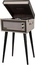 Crosley CR6233U-BK1 2 Speed Dansette Sterling Portable Turntable w/ Aux-In, Grey