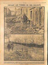 Humour Napoleon Guillaume II/tombe Poilus Bataille de Nomeny Lorraine  1914 WWI