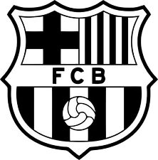 MEDIUM BARCELONA FOOTBALL BADGE  WALL ART VINYL STICKER