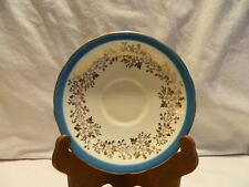 VINTAGE AYNSLEY GREEN, GOLD AND WHITE BONE CHINA SAUCER