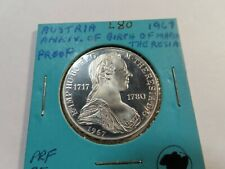 New ListingL80 Austria 1967 Maria Theresa 25 Schilling Proof