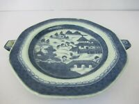 """Antique Chinese Blue And White Porcelain Dish Warmer Hot Water Plate Charger""""F67"""